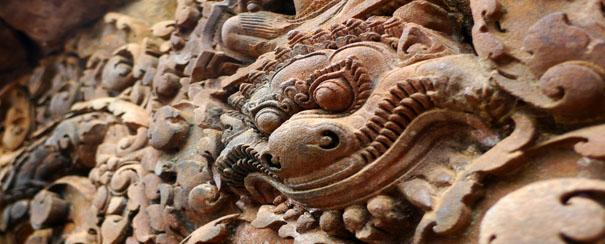 Sculpture murale du temple de Banteay Srei
