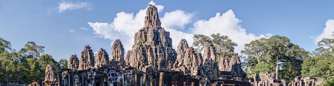 temple bayon angkor siem reap cambodge