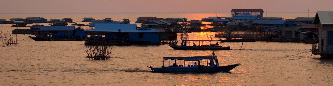 coucher soleil kratie cambodge