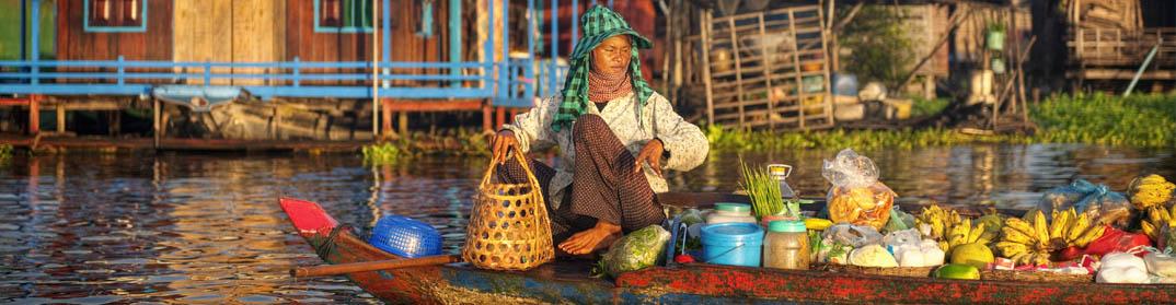 pêcheurs lac tonlé sap villages flottants cambodge