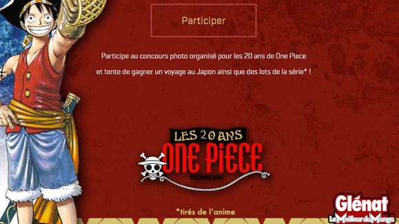 Gagnez 1 Voyage Au Japon Jeu Concours Pour Les 20 Ans De One Piece