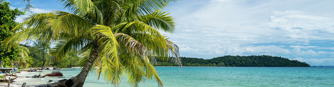plage sable blanc koh rong cambodge