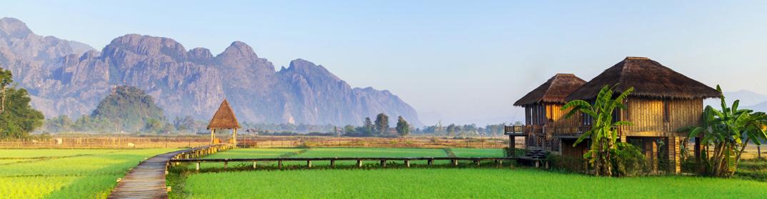 rizieres vang vieng laos cambodge