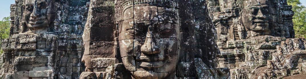 sculpture temple bayon siem reap cambodge