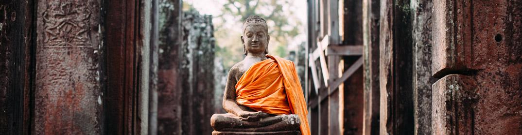 statue bouddha templs angkor cambodge