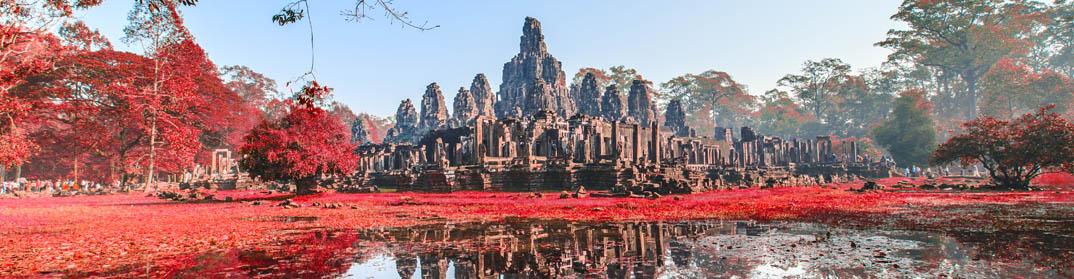 temple angkor bayon siem reap cambodge