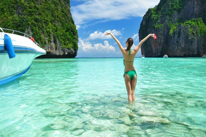 thailande femme plage