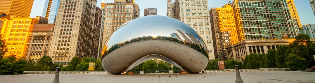 chicago cloud gate sculpture bulding