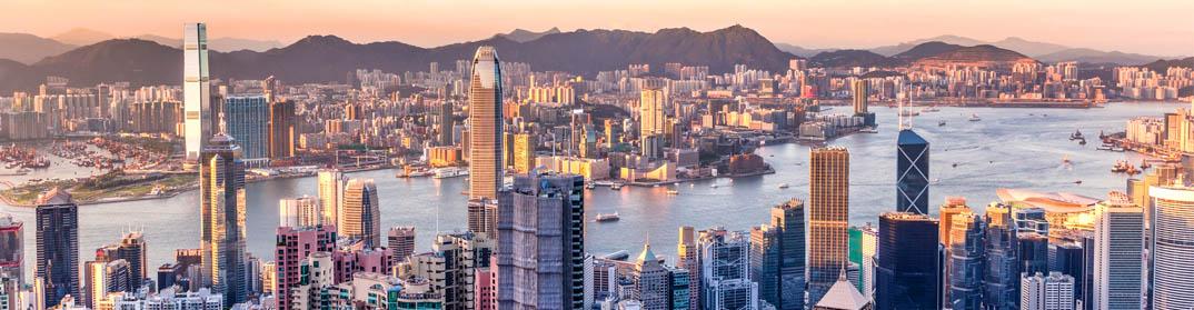 Vue panoramique Hong Kong