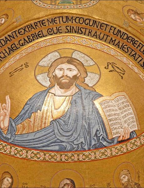 Christ Pantocrator dans la chapelle Palatine de Palerme.