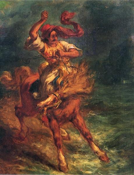 Eugène Delacroix Cavalier arabe au galop, 1840-1850 Huile sur toile
