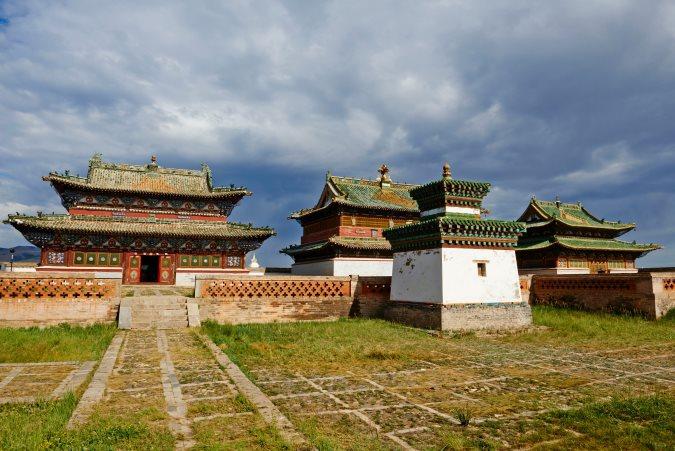 Monastère de Karakorum dans la vallée de Orkhon en Mongolie