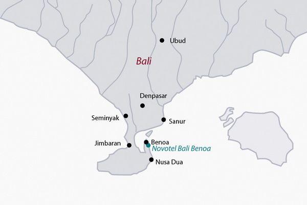 Carte Bali Benoa.Sejour Vol Hotel Novotel Bali Benoa 4