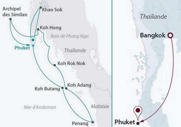 Malaisie - Thaïlande - Croisière Andaman Odyssée (cat. 2) et City break à Bangkok 4*