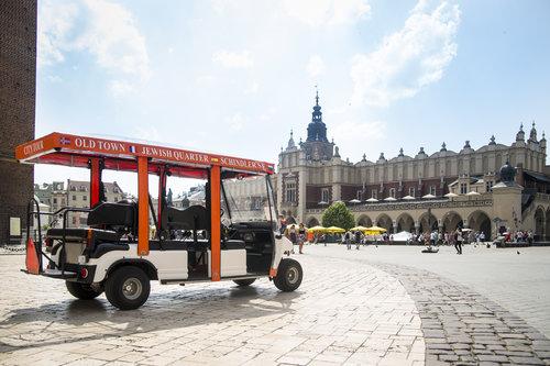 Visite de la ville de Cracovie sur un eco-véhicule