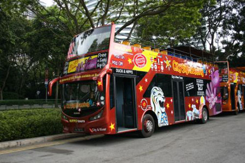 Tour de Singapour en bus à arrêts multiples*