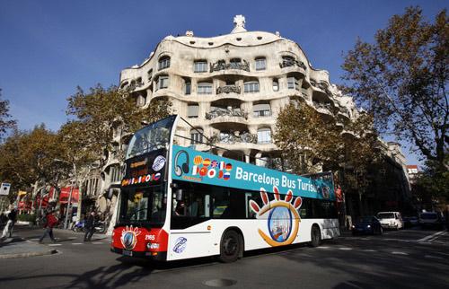 Bus touristique à Barcelone