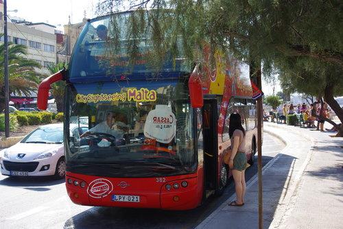 Tour de Malte en bus à arrêt multiples