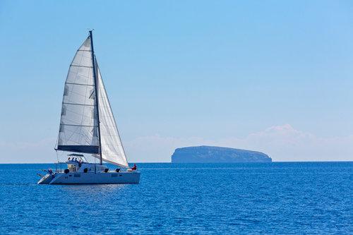 Croisière d'une 1/2 journée en Catamaran à Santorin