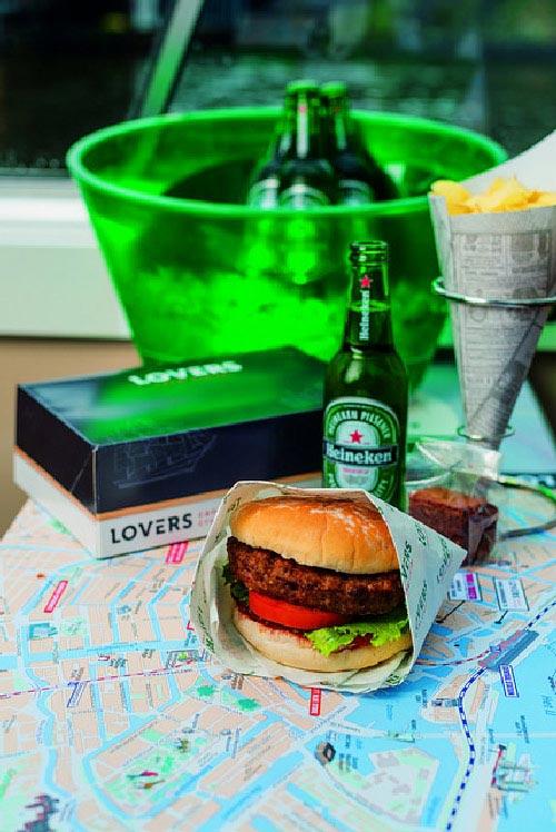 Amsterdam : croisière sur les canaux avec hamburger