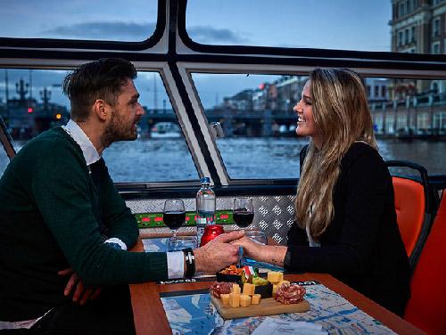 Amsterdam : croisière aux chandelles avec vin et fromages
