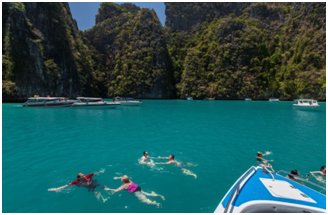 Croisière d'une journée à l'île de PHI PHI en hors-bord