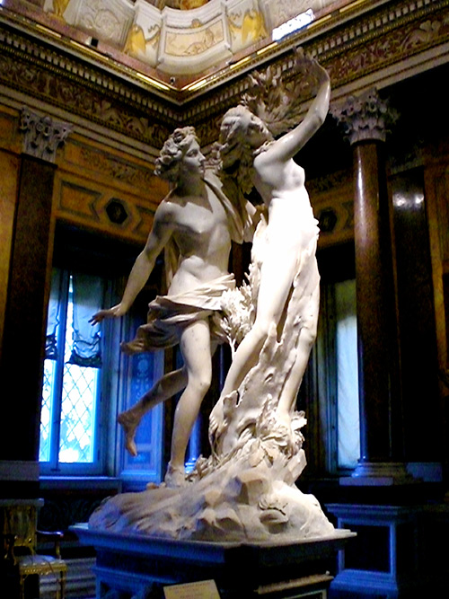 Statue de Apollo et Daphne