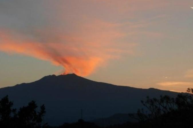 Excursion d'une demi-journée à l'Etna au coucher du soleil au départ de Taormine