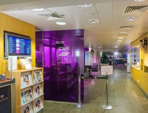 Accès au salon Icare de l'aéroport Paris-Orly Terminal Orly Sud Hall A