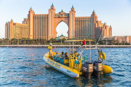 Croisière de 45 minutes en bateau de vitesse vers Dubaï Marina et Palm Jumeirah Lagoon