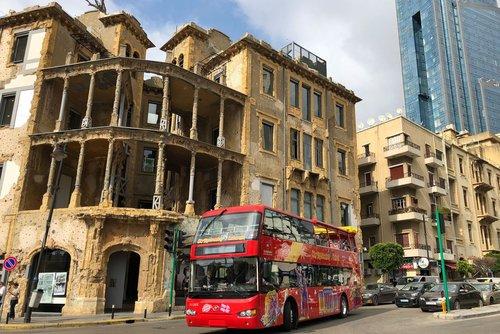 Beyrouth : tour en bus à arrêts multiples