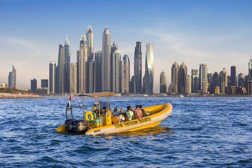 Croisière de 90 minutes en bateau de vitesse vers la palme Jumeirah, Burj Al Arab et Dubaï Marina