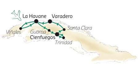 CARTE TRESORS DE CUBA H18