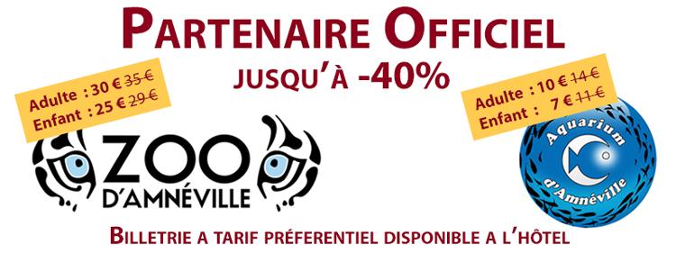 Partenaire Officiel du Zoo et de l'aquarium d'Amnéville, jusqu'à -40% de réduction sur votre billetrie