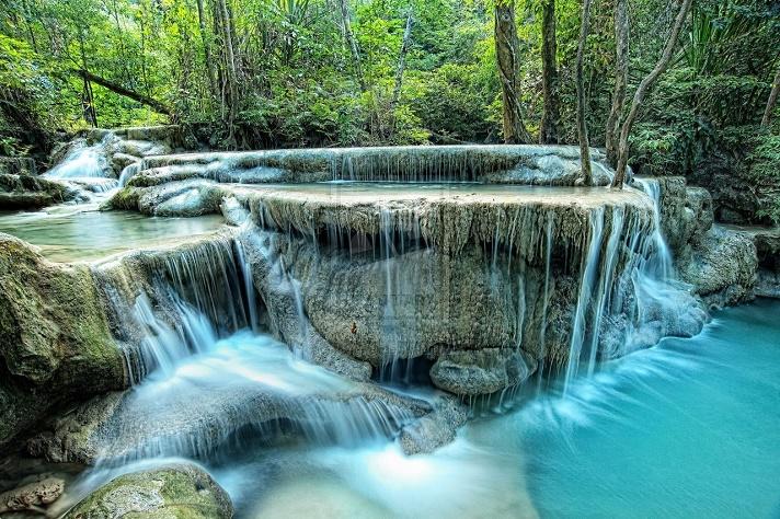 Cascades Erawan Thaïlande