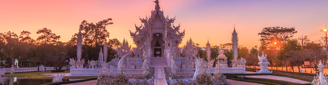 Chiang Mai, temple blanc