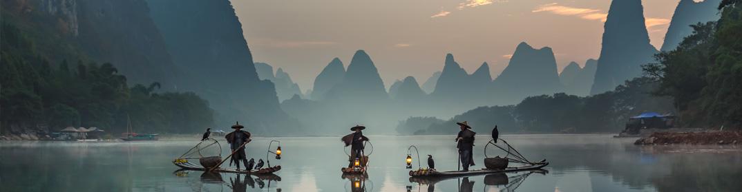 Pecheurs au comoran, Yangshuo Guilin