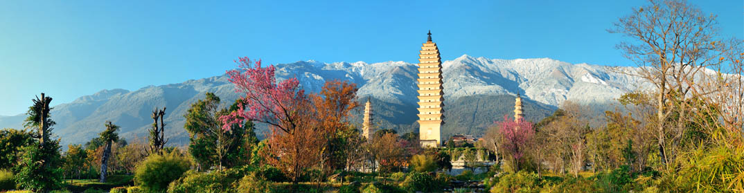 Trois pagodes Dali Chine