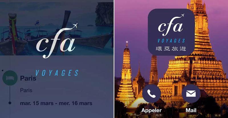 Application de réservation des billets d'avions vers l'Asie