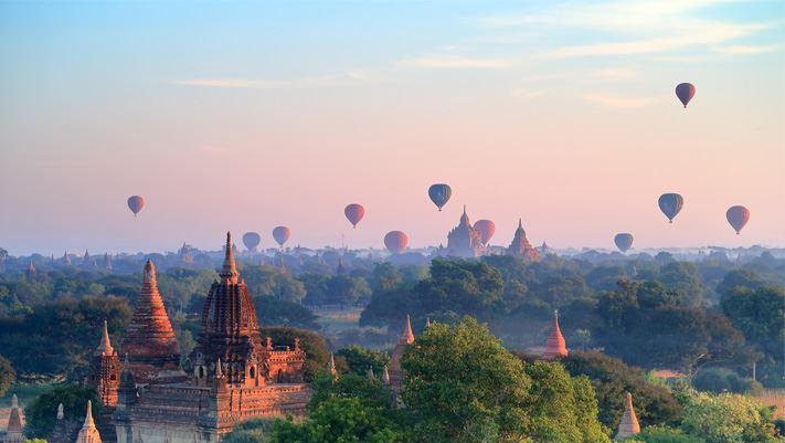 Montgolfières Bagan Birmanie