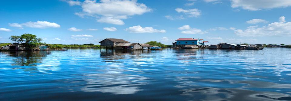 Maison sur pilotis lac tonle sap