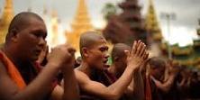 Manifestation des moines birmans