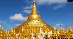La pagode Shwedagon à Rangoun