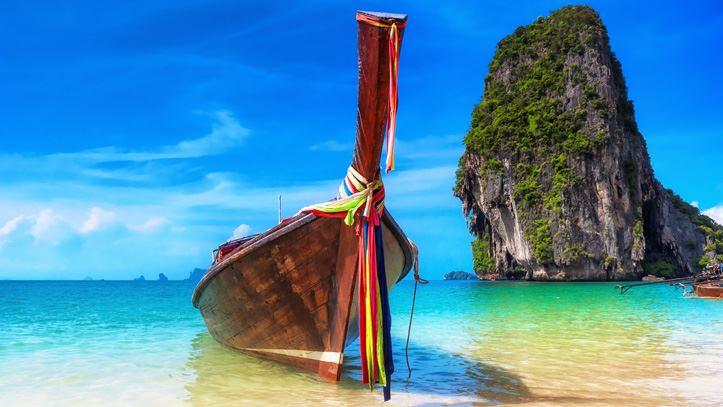 thailande phuket pirogue mer