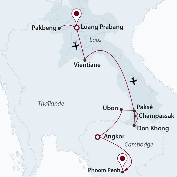 Cambodge - Laos - Circuit Laos en Majesté avec extension Cambodge