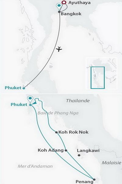 Malaisie - Thaïlande - Croisière Andaman Odyssée (pont Commodore - cat. 3)