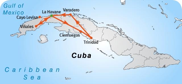 Carte Cuba Cayo Levisa.Occidente Cubano L Ouest Cubain Magiclub Voyages